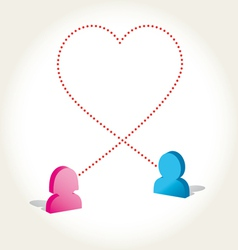 Social networks love icon vector