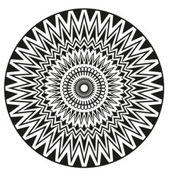 Ancient sign symmetric mandala can be used to vector