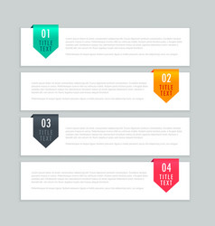 Infographic steps template design vector
