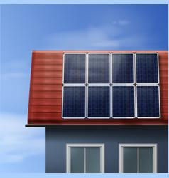 Portable solar panels vector