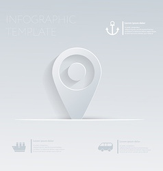 Pin pointer location Theme holidays Template vector image