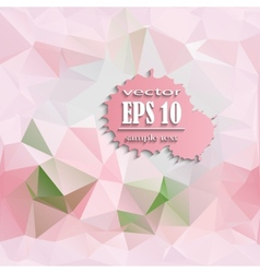 Polygonal pink background vector