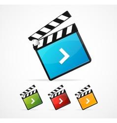 media player icon set vector image