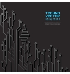 Circuit black background vector