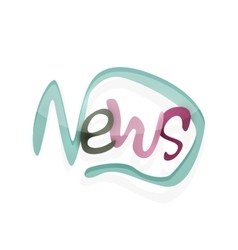 News word drawn lettering typographic element vector