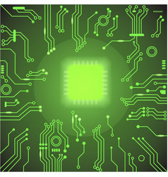 Circuit board green background vector