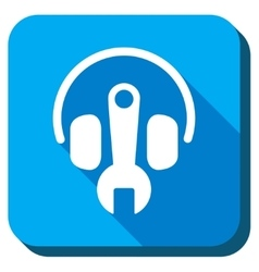 Headphones tuning icon vector