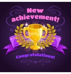 New achievement game screen vector