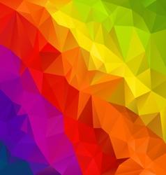 diagonal rainbow spectrum polygon triangular vector image