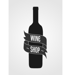 Vintage logotype for wine shop poster or wine vector