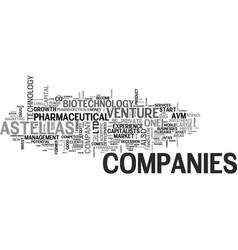 Astellas venture capital text word cloud concept vector