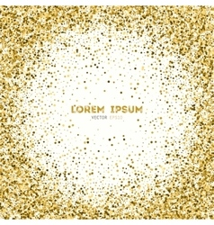 background with gold glitter vector image