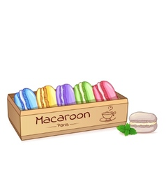 Beautiful of a french dessert macaroons in an vector