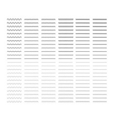 Big lines set isolated on white real markers vector