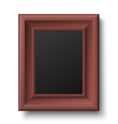 Brown wooden vintage frame for picture or text vector