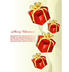 Christmas gift beautiful artistic background vector image