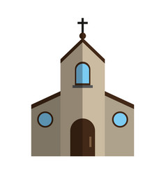 Cristian or catholic church chapel icon image vector