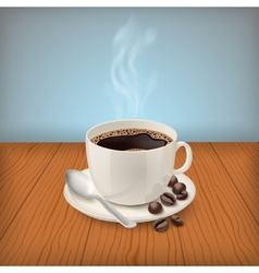 Cup with black classic espresso on the table vector image