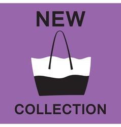 Fashionable bag vector image vector image