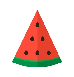 Flat design slice of watermelon vector image