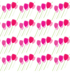 floral patterns pink tulips flowers vector image