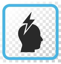 Headache icon in a frame vector