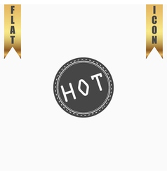 Hot icon badge label or sticker vector