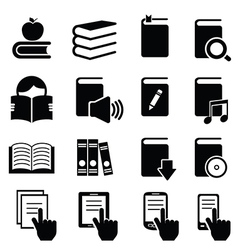 Icons of books vector image vector image