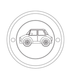 Isolated car vehicle vector