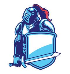 Knight mascot vector