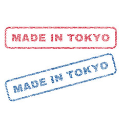 Made in tokyo textile stamps vector