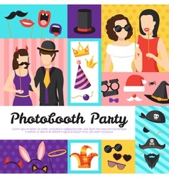 Photo booth party design concept vector