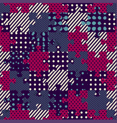 Puzzle cloth seamless pattern vector