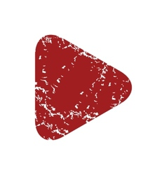 Red grunge play logo vector