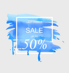 Sale up to 50 percent off sign over art brush vector