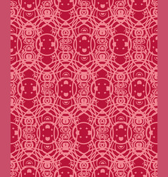 Seamless pattern with geometric ornament round vector