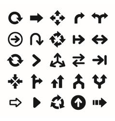 Set of black universal arrows vector image vector image