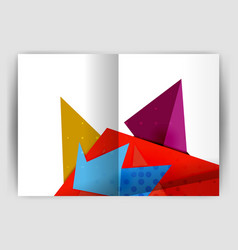 triangle business print template vector image vector image