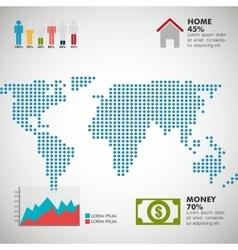 World infographic design vector image