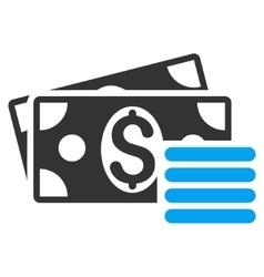 Dollar Cash Flat Icon vector image