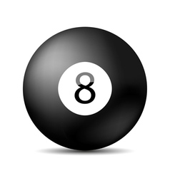 Snooker 8 ball vector