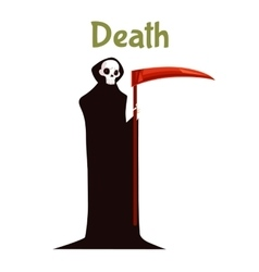 Death with scythe costume for halloween vector