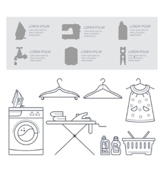 Icons laundry room vector