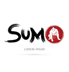 Text sumo with sumo vector