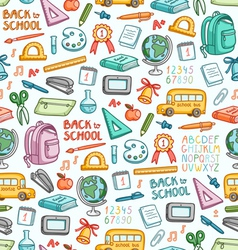 School pattern in color vector