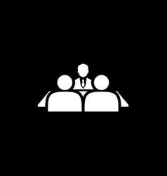 Conversation icon flat design vector