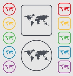 Globe sign icon world map geography symbol symbols vector