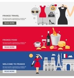 France Banner Set vector image