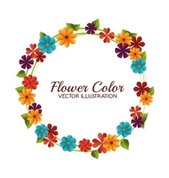 Flower color design vector