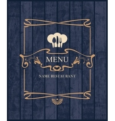Cover for restaurant menu vector